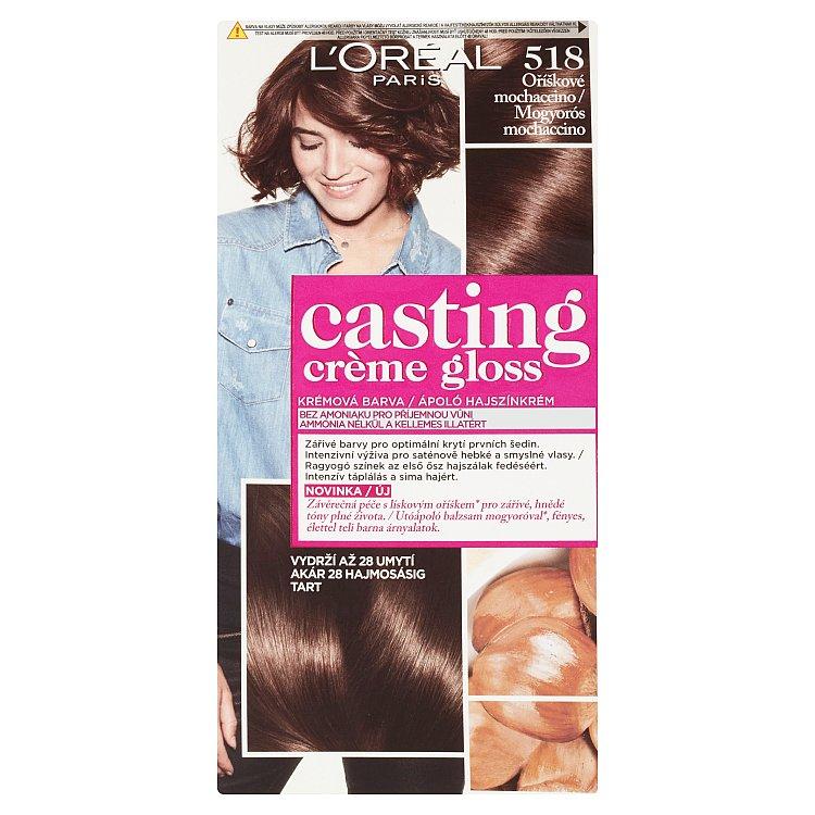 L'Oréal Paris Casting Crème Gloss barva na vlasy oříškové Mochaccino 518