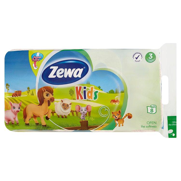 Zewa Kids toaletní papír 3vrstvý 8 rolí