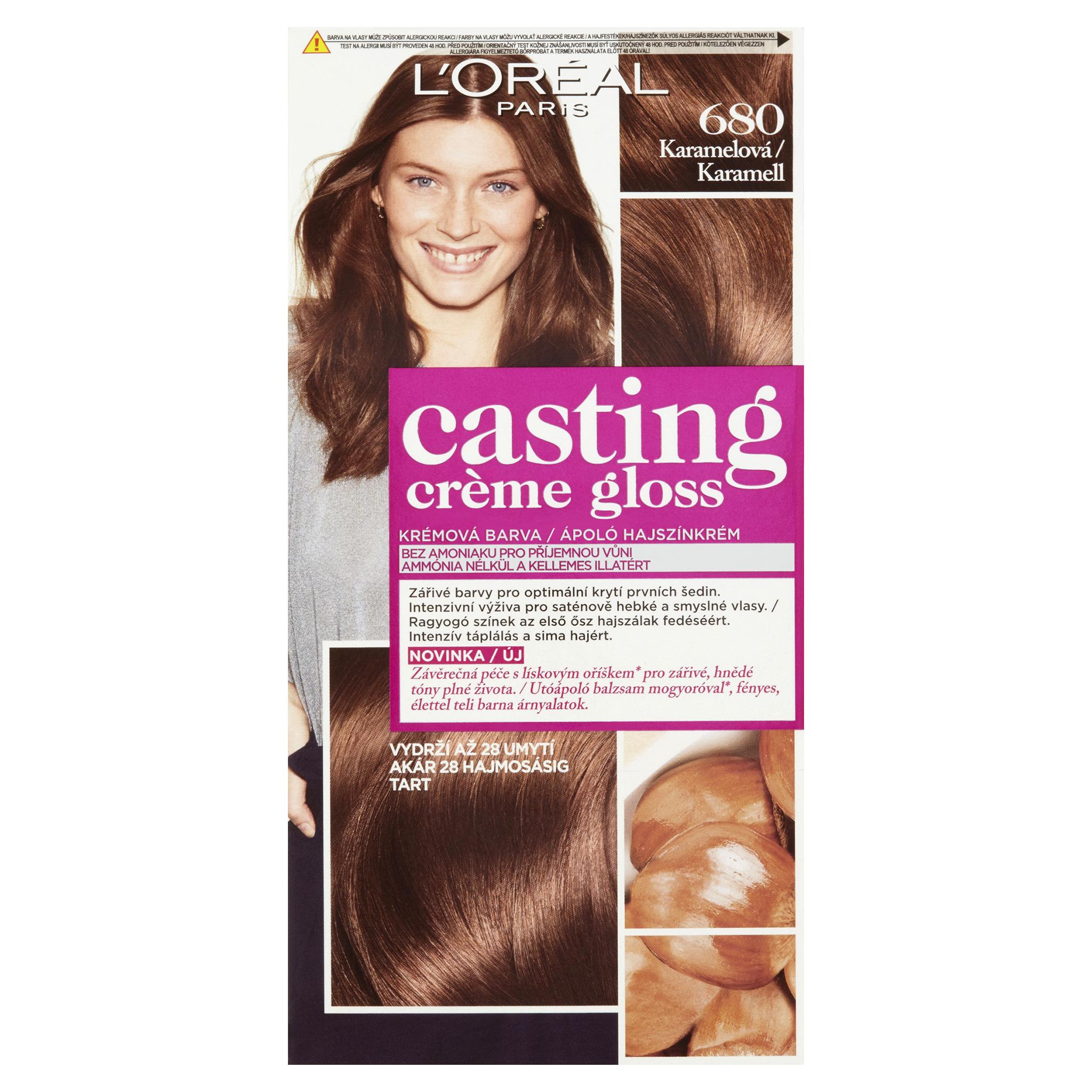 L'Oréal Paris Casting Crème Gloss barva na vlasy karamelová 680