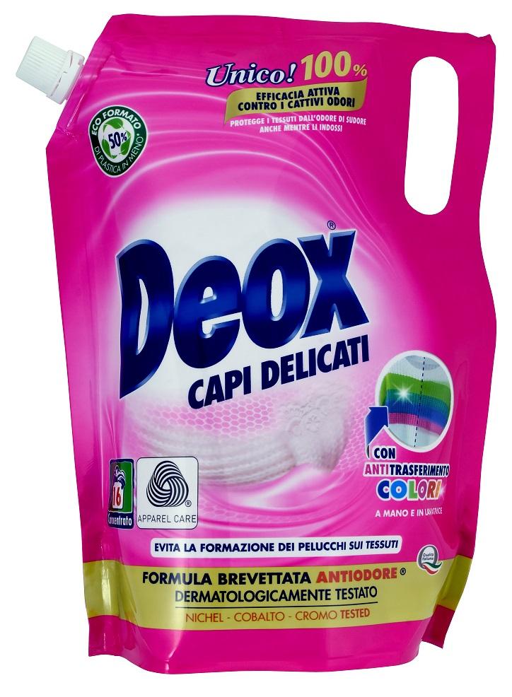 Deox Capi Delicati prací gel na jemné prádlo náhradní balení, 16 praní 800 ml