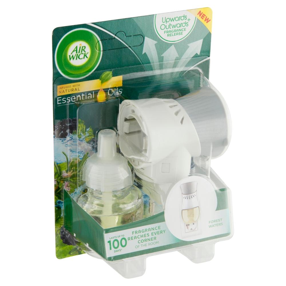 Air Wick Essential Oils elektrický osvěžovač vzduchu lesní potok 1 ks + 19 ml