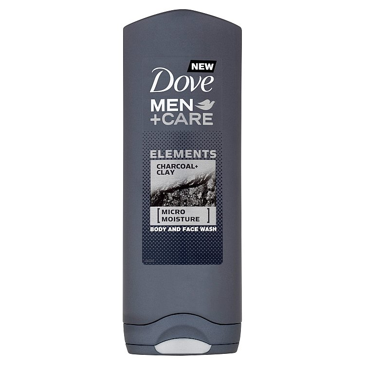 Dove Men + Care Charcoal & Clay sprchový gel 250 ml