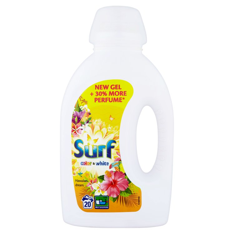 Surf Color + White hawaiian dream prací gel, 20 praní 1400 ml