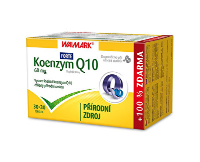 Walmark Koenzym Q10 Forte 60 mg 30 tob. + 30 tob. ZDARMA