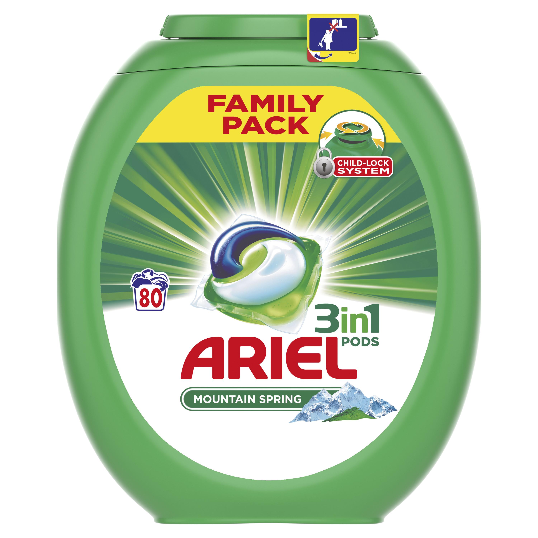 Ariel Mountain Spring gelové kapsle 80 Ks
