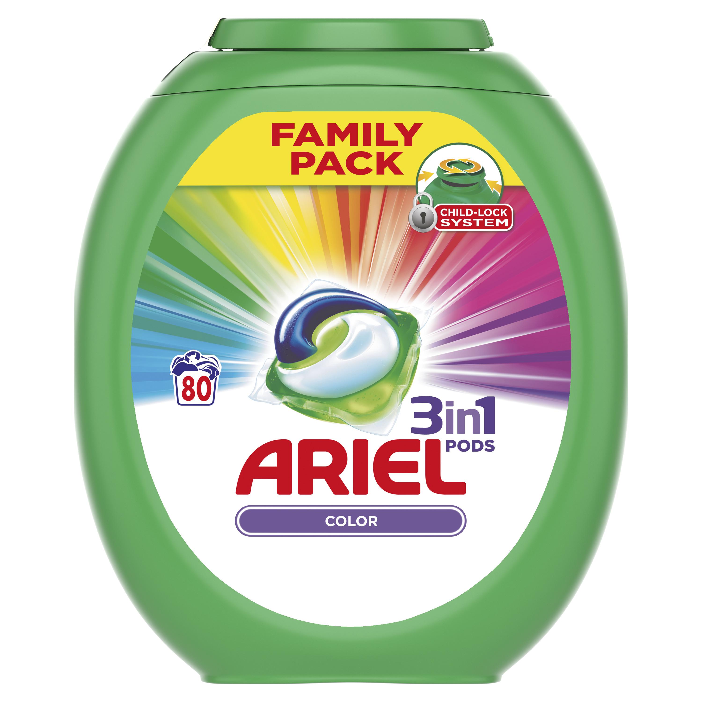 Ariel Color gelové kapsle, 80 praní 80 ks