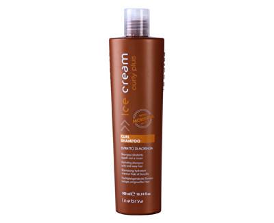 Fotografie Inebrya šampon pro kudrnaté vlasy nebo vlasy po trvalé Ice Cream Curly Plus 300 ml