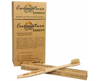 Zdravý zubní kartáček Curanatura 12 ks Bamboo - zelená volba