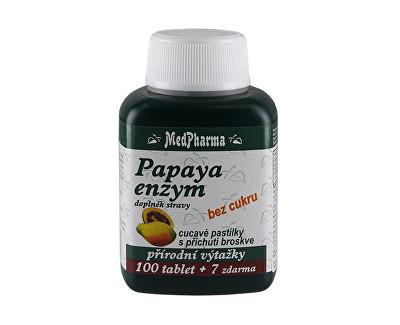 Fotografie MedPharma Papaya enzym chew.tbl.107