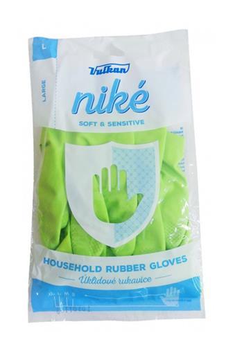 Niké gumové rukavice zelené velikost L