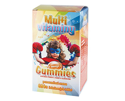 Gummies – Multivitaminy + omega 3 pro děti 60 želatinových tbl.