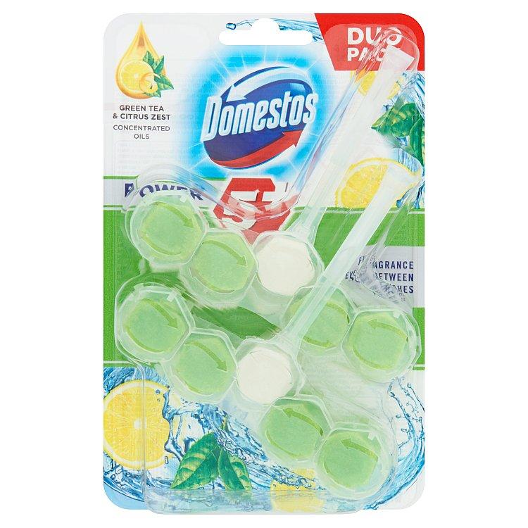 Domestos Power 5 Green Tea & Citrus 2 x 55 g