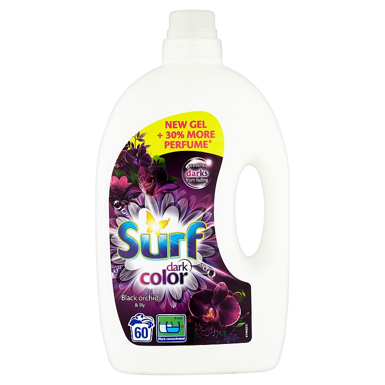 Surf Black Midnight prací gel, 60 praní 3 l