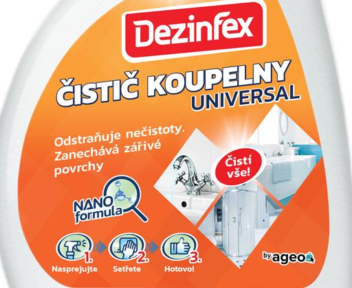 Dezinfex čistič koupelny universal sprej 500 ml