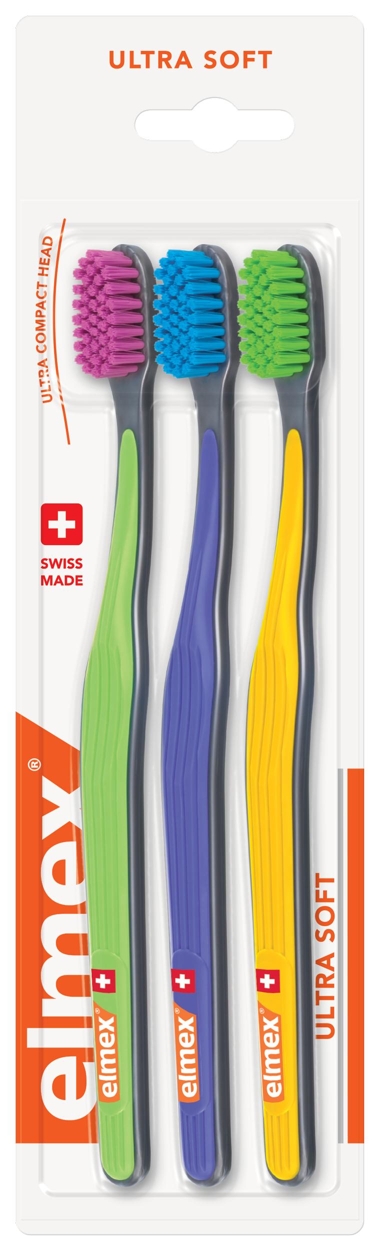 Elmex zubní kartáček 3-pack ultra soft