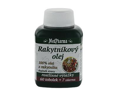 MedPharma Rakytníkový olej – 100% olej z rakytníku 60 tob. + 7 tob. ZDARMA