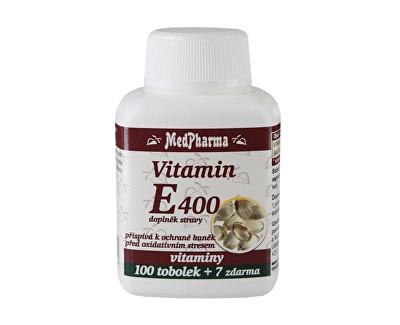 Vitamín E 400 100 tob. + 7 tob. ZDARMA