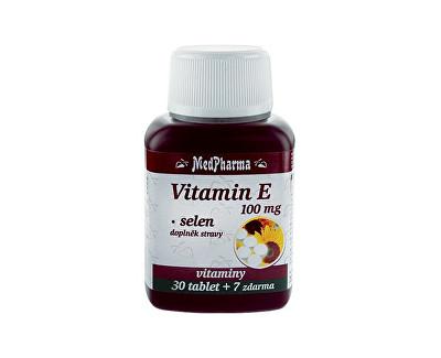 Fotografie MedPharma Vitamín E 100mg+selen tbl.37