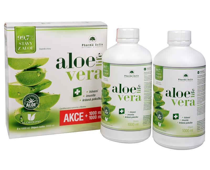 AloeVeraLife 1+1 ZDARMA (1000 ml + 1000 ml) + zdarma šála