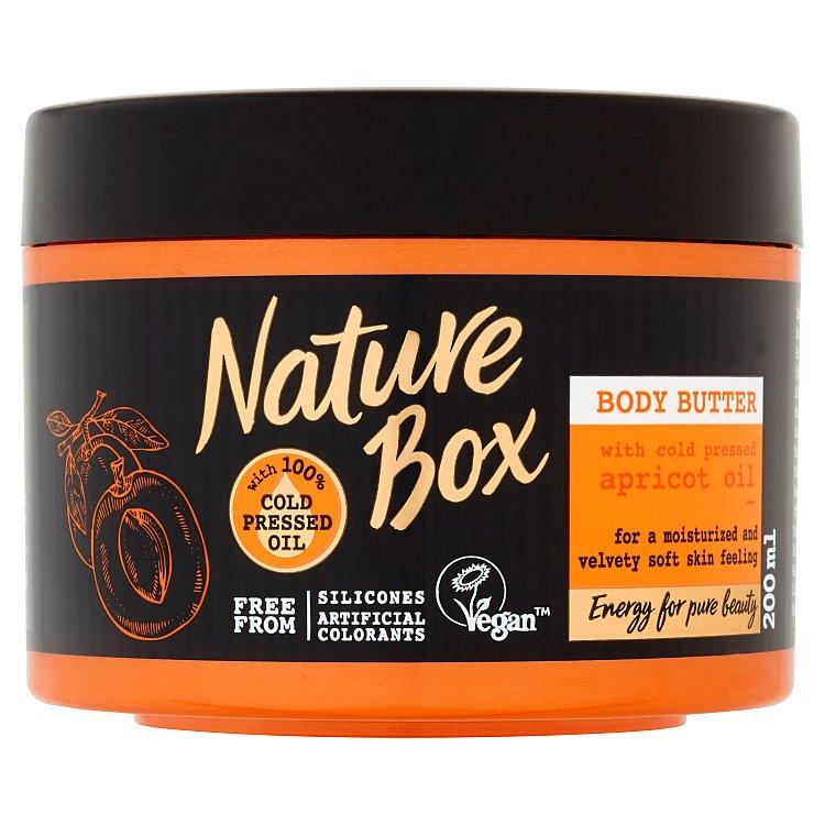Nature Box Apricot Oil tělové máslo 200 ml