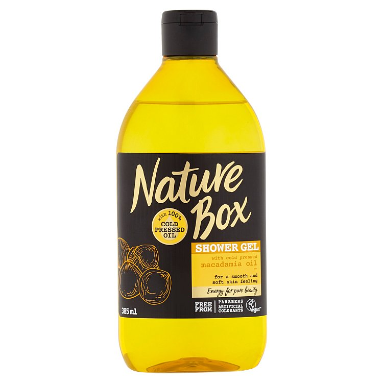 Nature Box sprchový gel Macadamia Oil 385 ml