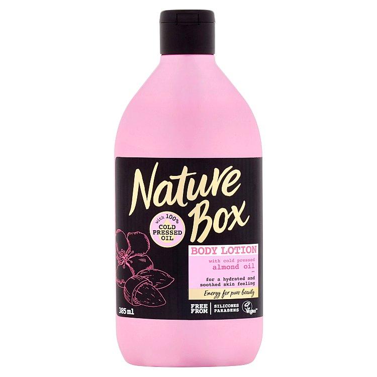 Nature Box tělové mléko Almond Oil 385 ml