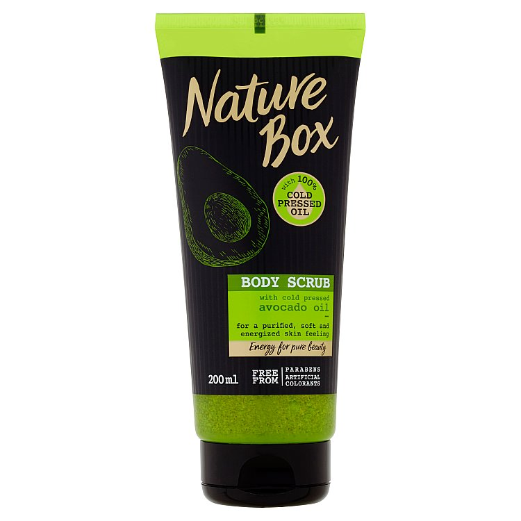 Nature Box tělový peeling Avocado Oil 200 ml