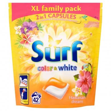 Surf Color+White Hawaiian Dream gelové duo-kapsle na barevné i bílé prádlo, 42 praní 42 ks