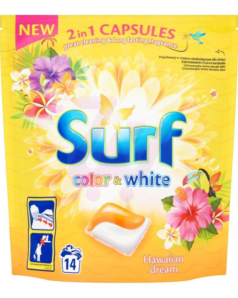 Surf Color+White Hawaiian dream prací duo-kapsle na barevné i bílé prádlo 14 dávek