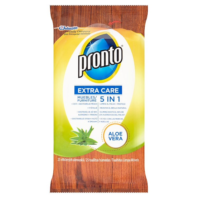 Pronto Extra Care 5v1 Aloe Vera ubrousky 25 ks