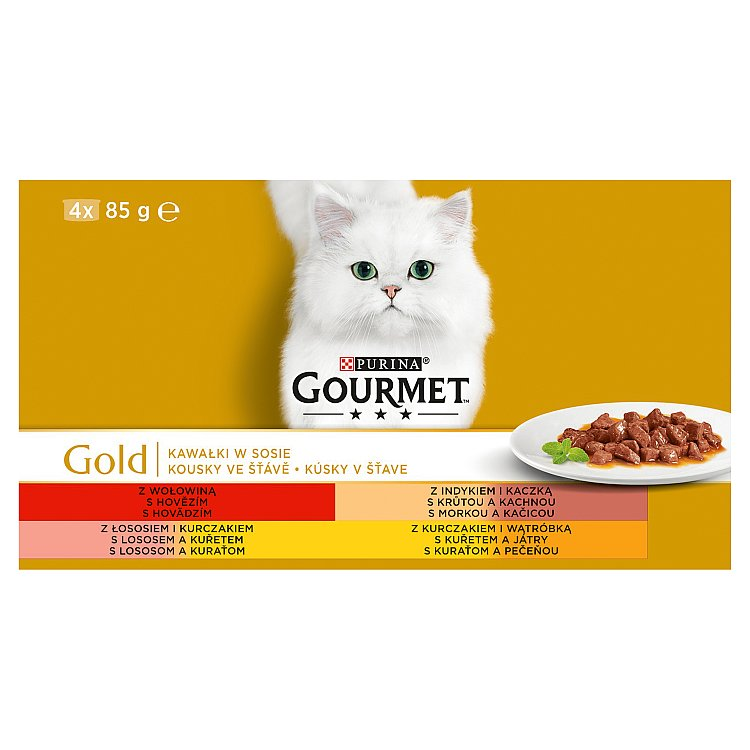 Gourmet Konz.Gourmet Gold ve stave 4x85g