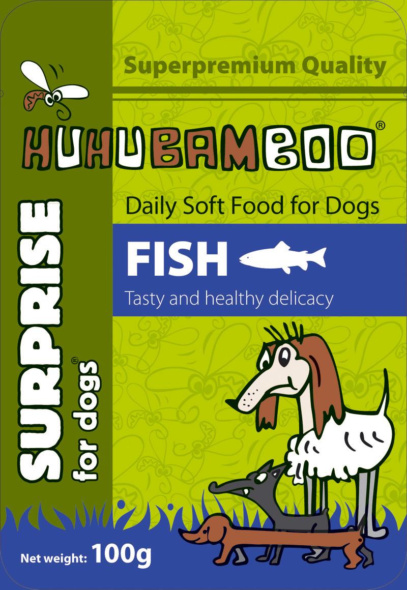 Huhubamboo kapsička s rybím masem 100g