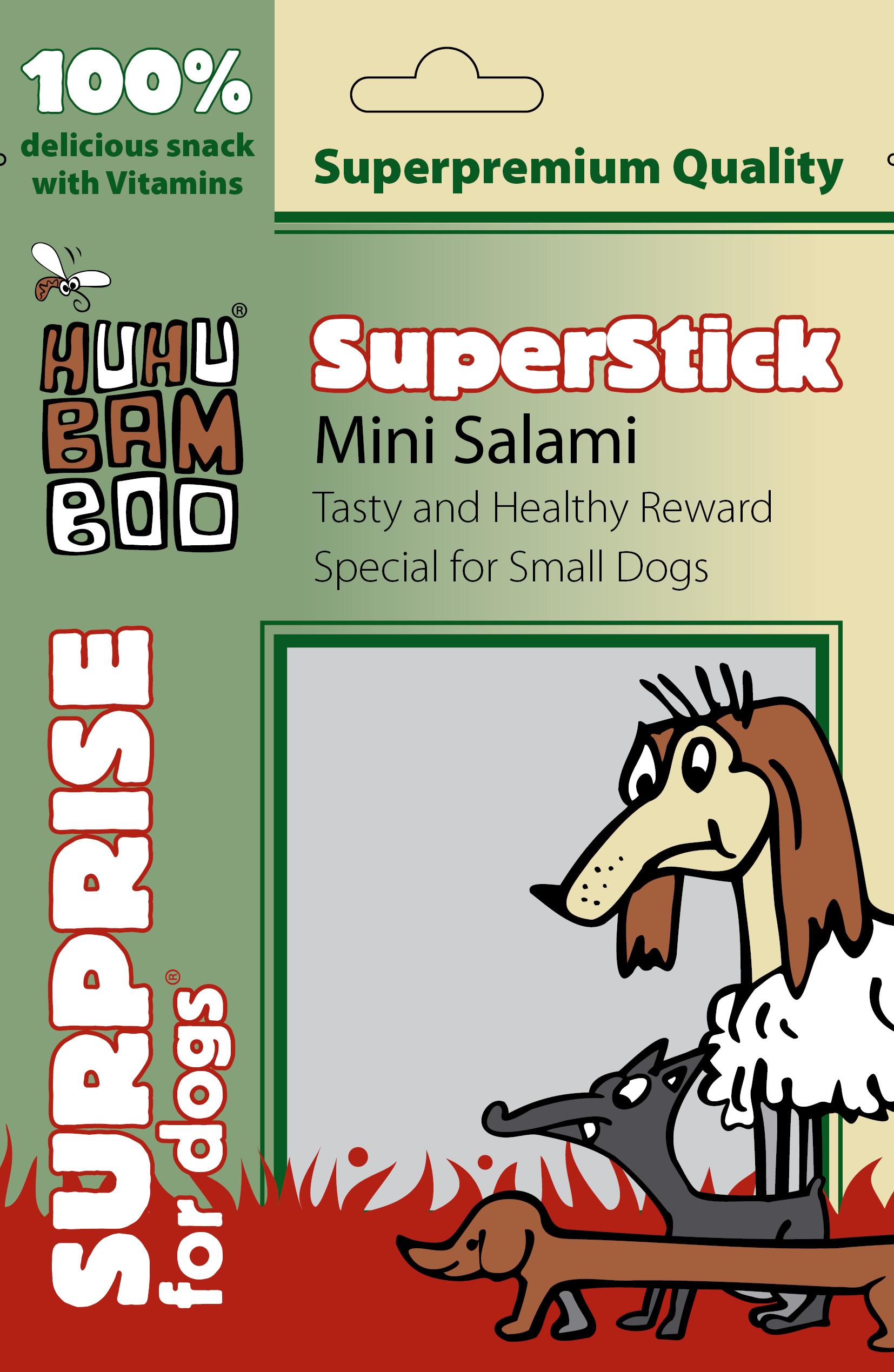 Huhubamboo Superstick - Mini salámky 75g