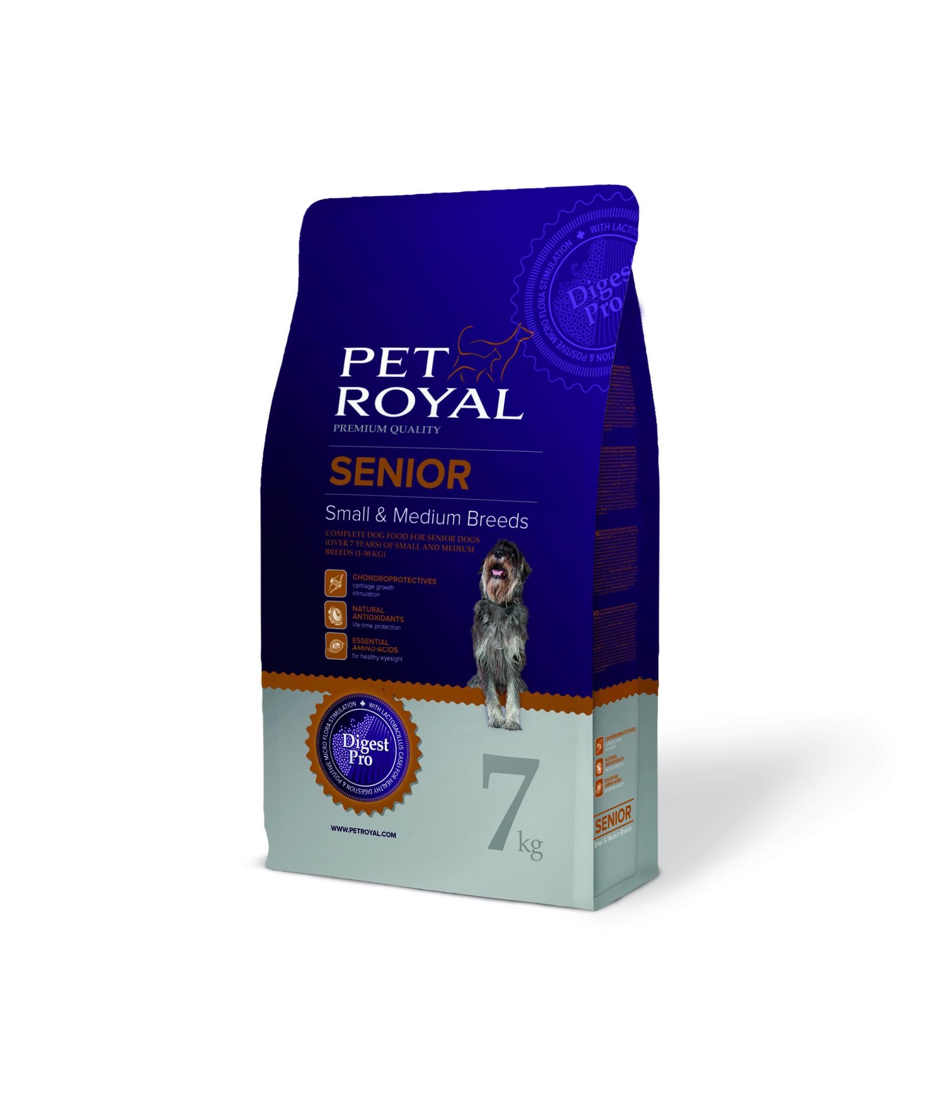 Pet Royal Senior Small & Medium Breeds pro starší psy malých a středních plemen 7kg