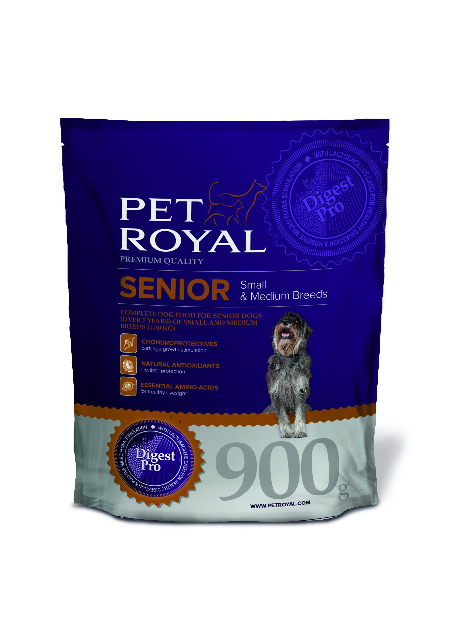 Pet Royal Senior Small & Medium Breeds pro starší psy malých a středních plemen 0,9kg