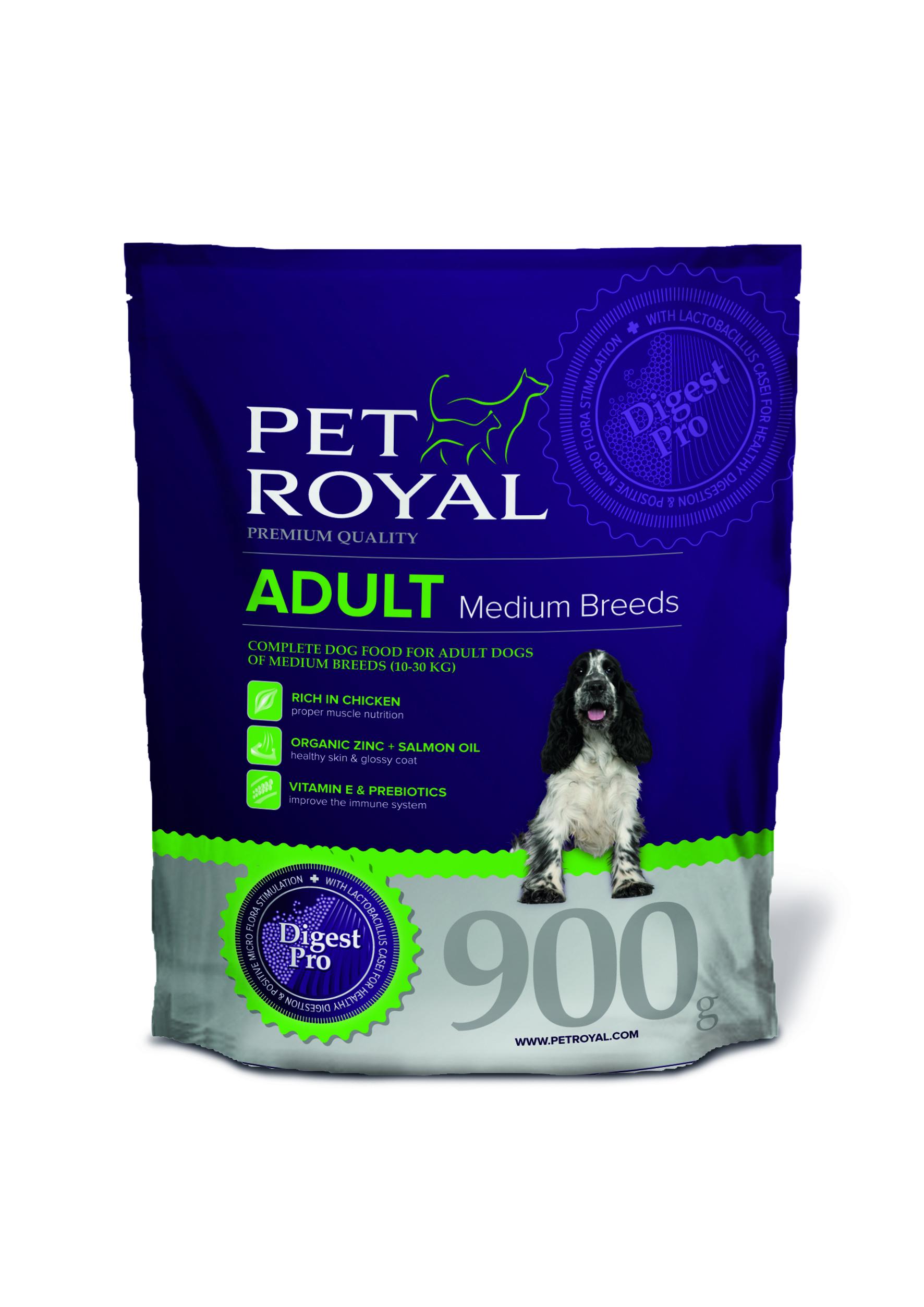 Pet Royal Adult Dog Medium Breeds pro středně velká plemena 0,9kg