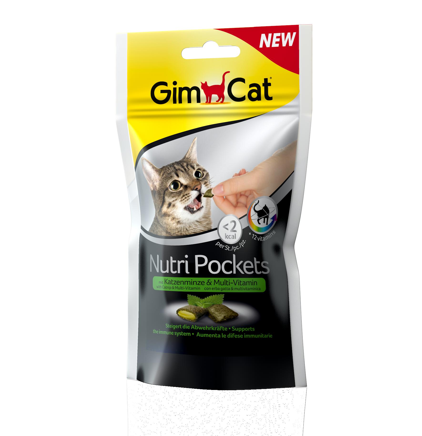 Fotografie GimCat Nutri Pockets šanta a multivitamínová pasta 60g GIMBORN