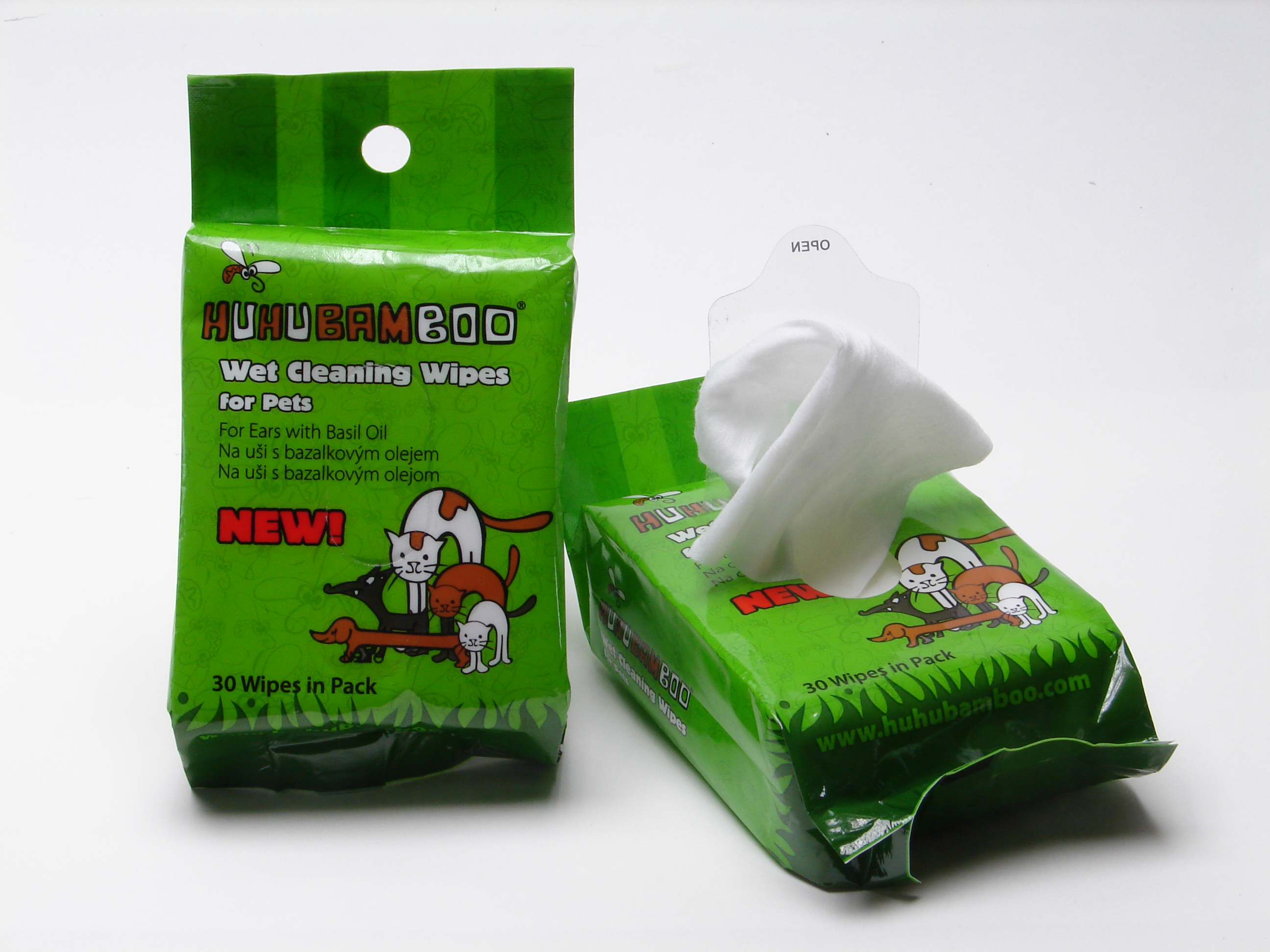 Huhubamboo čistící ubrousky na uši 30ks