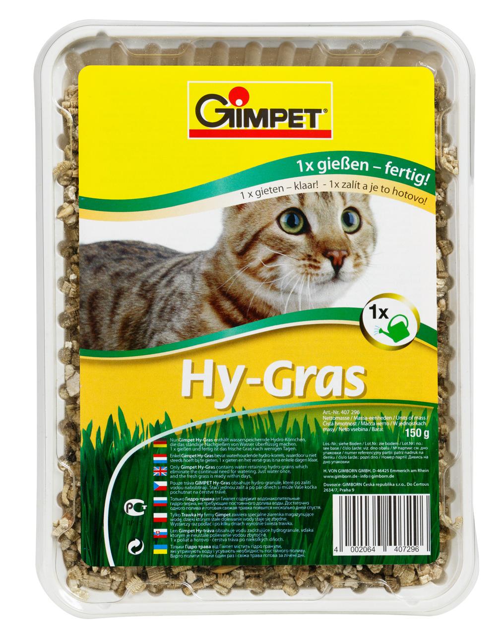 Fotografie Gimpet Hy-Gras tráva pro kočky 150g
