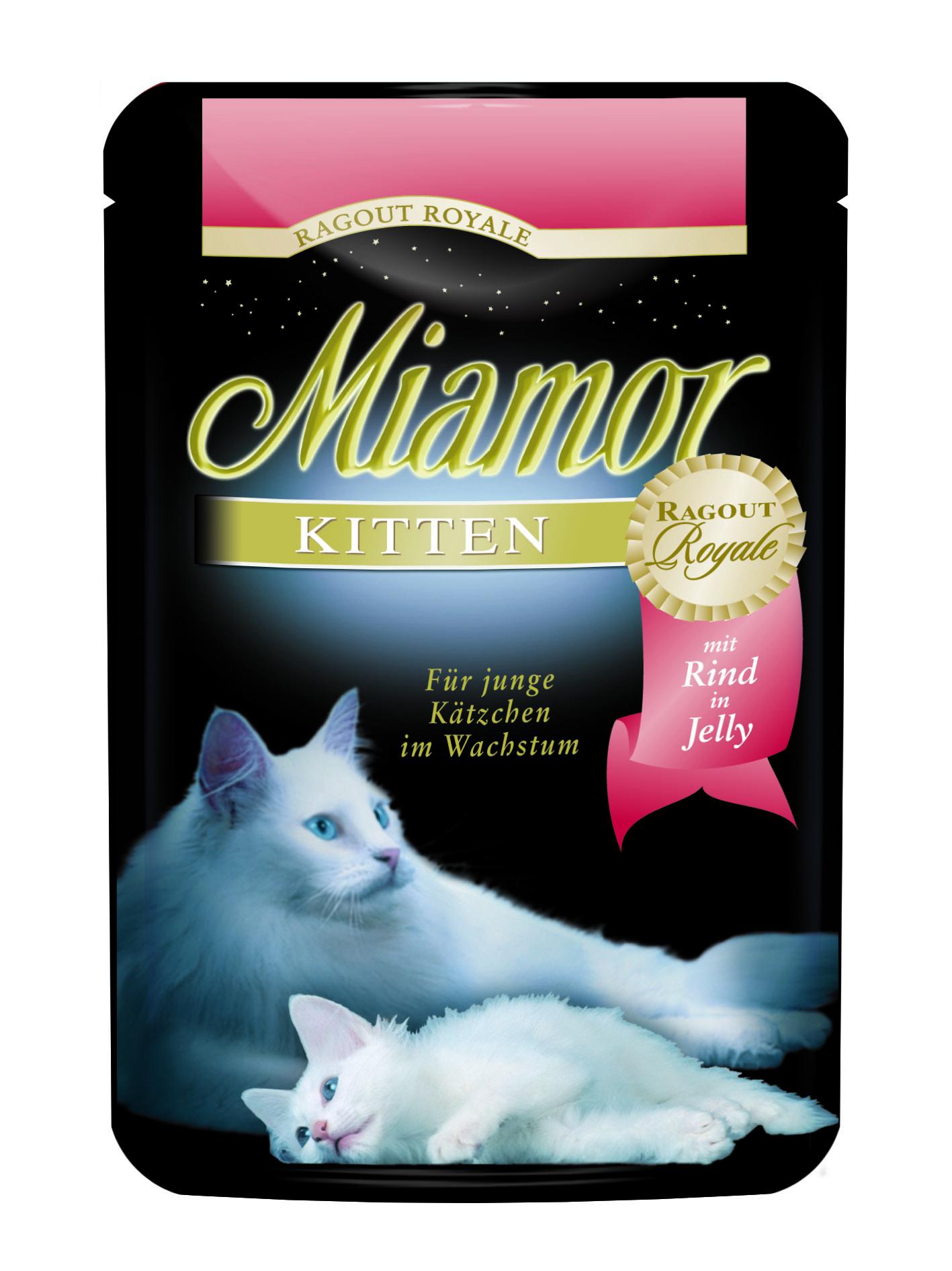 Finnern Miamor Ragout Kitten hovězí kapsička 100g