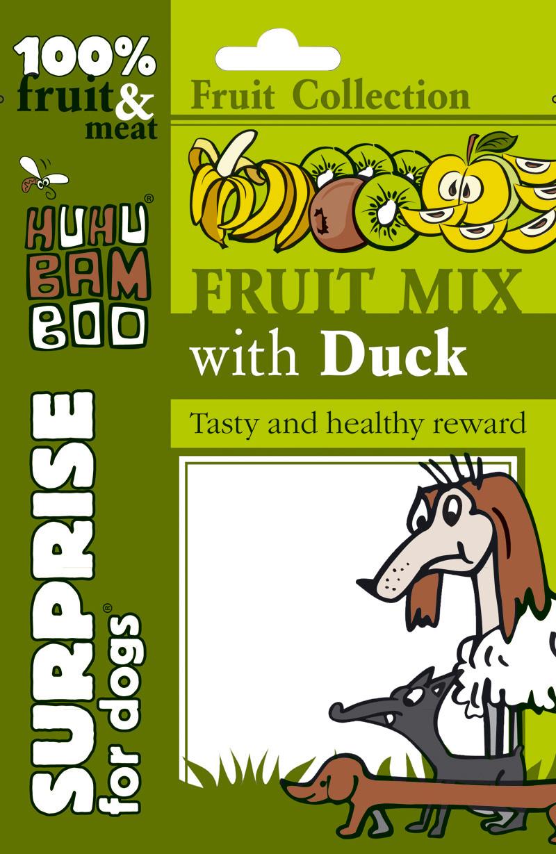 Huhubamboo Fruit - Mix ovoce s kachním masem 75g