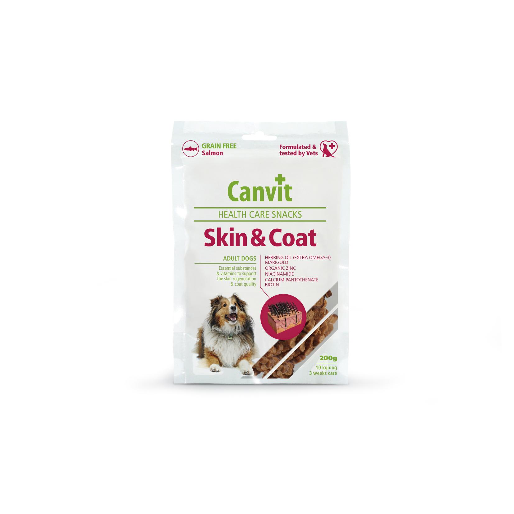 Fotografie Canvit Snack Skin & Coat pro psy 200g