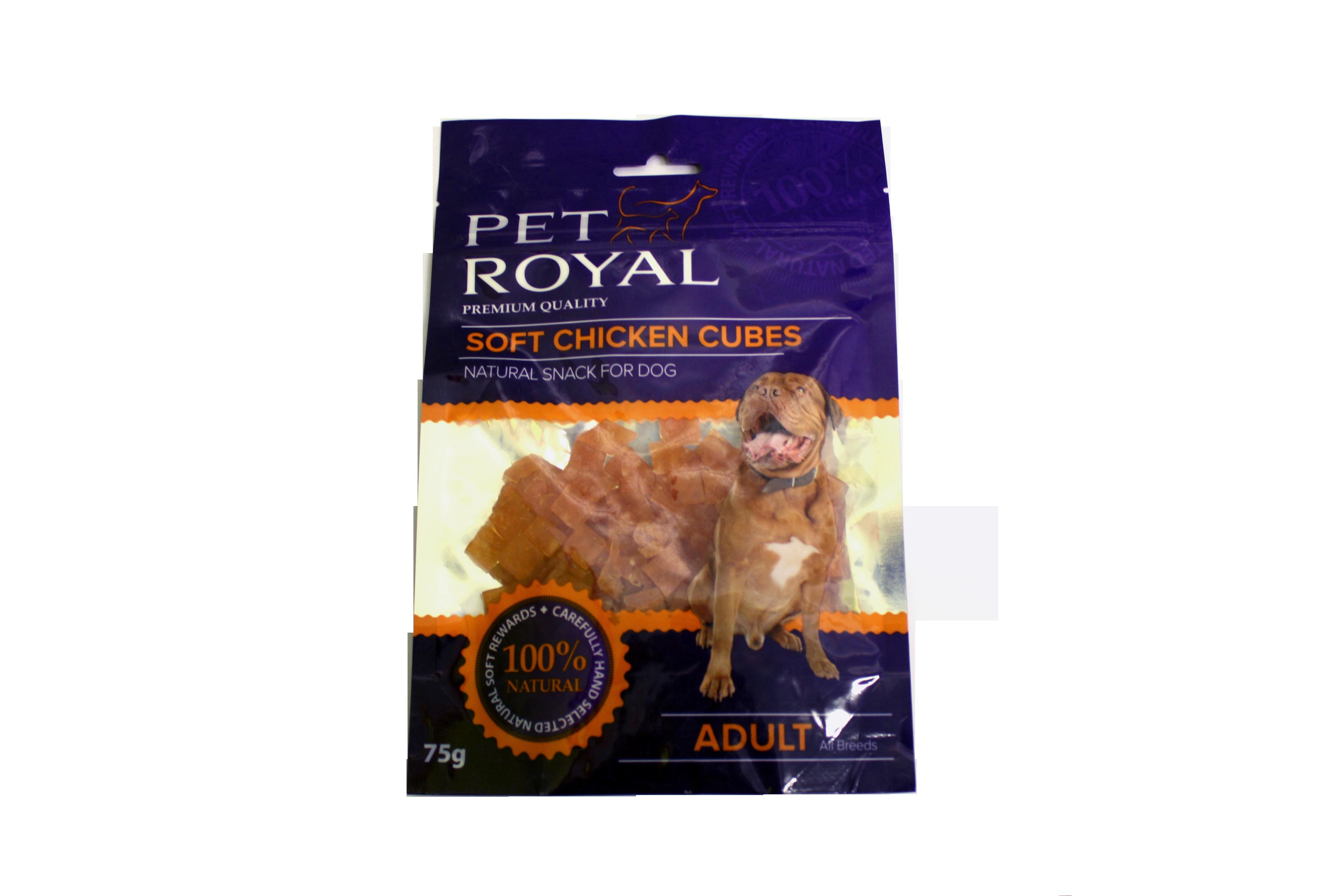 Pet Royal Dog Soft kuřecí kostky 75g