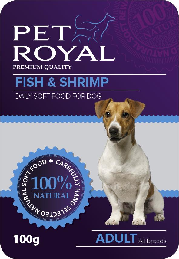 Kap.Pet Royal Dog ryba+krevety 100g