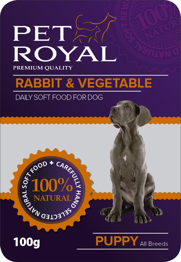 Kap.Pet Royal Dog kralik+zelenina 100g