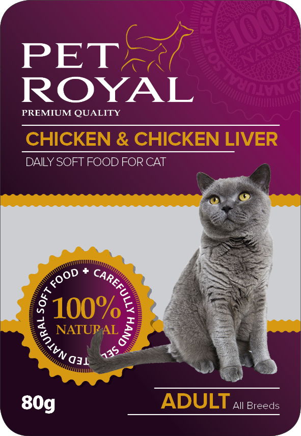 Kap.Pet Royal Cat kure+kurece jatra 80g