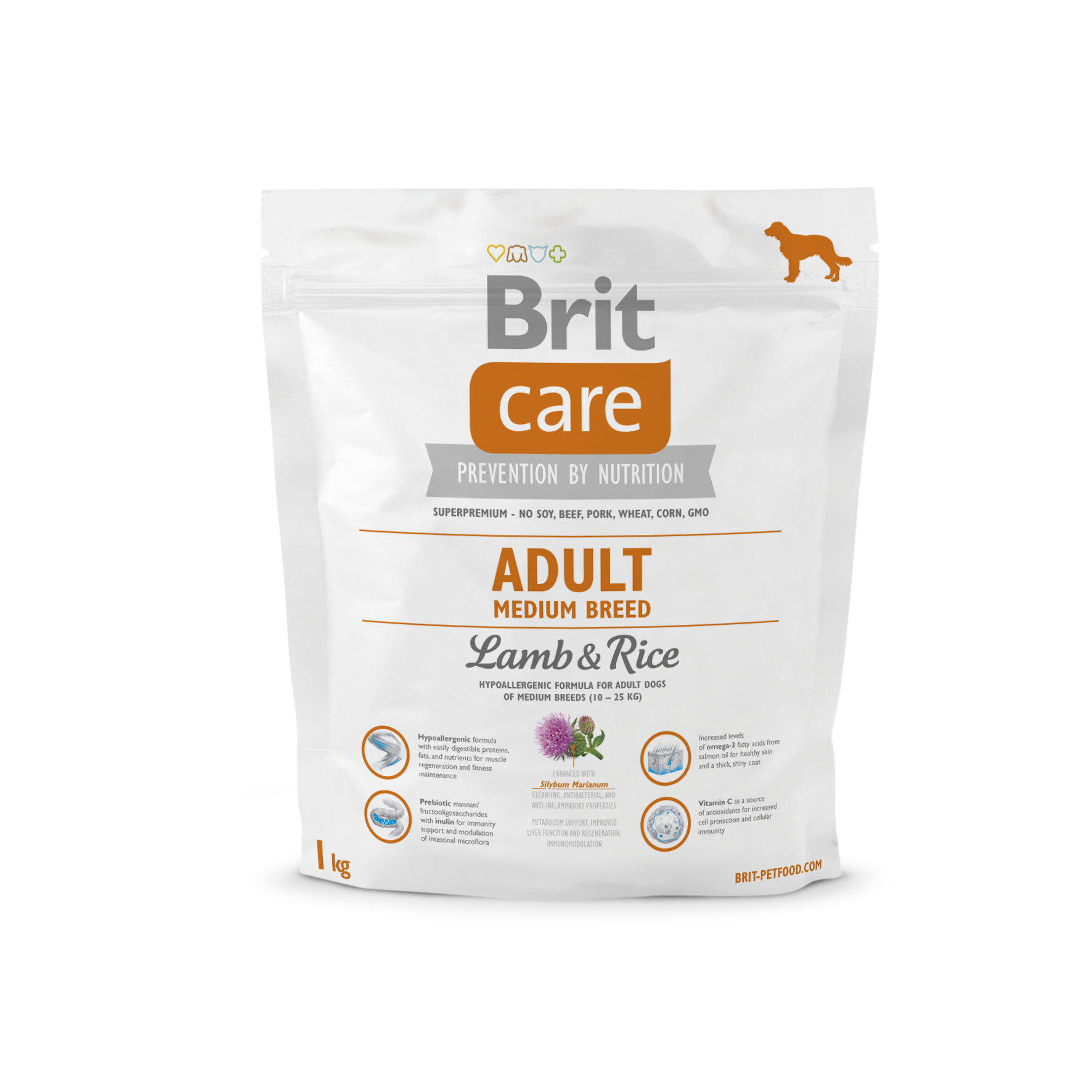 Brit Care Adult Medium Breed Lamb & Rice 1kg
