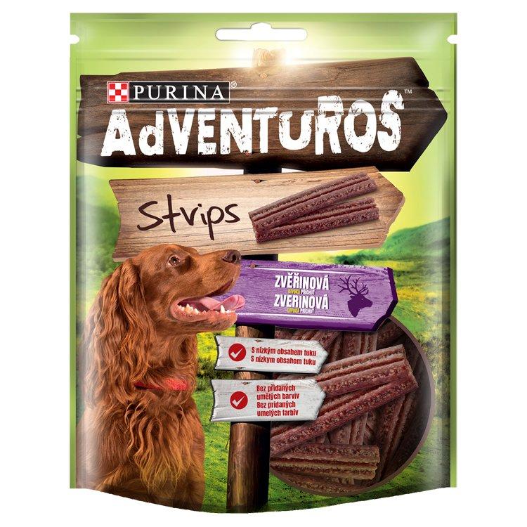 ADVENTUROS Snack Strips zverina 90g