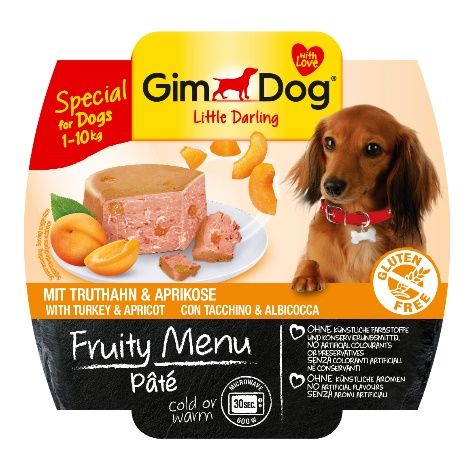 Gimdog Fruity menu Paté s krocanem a meruňkou 100 g