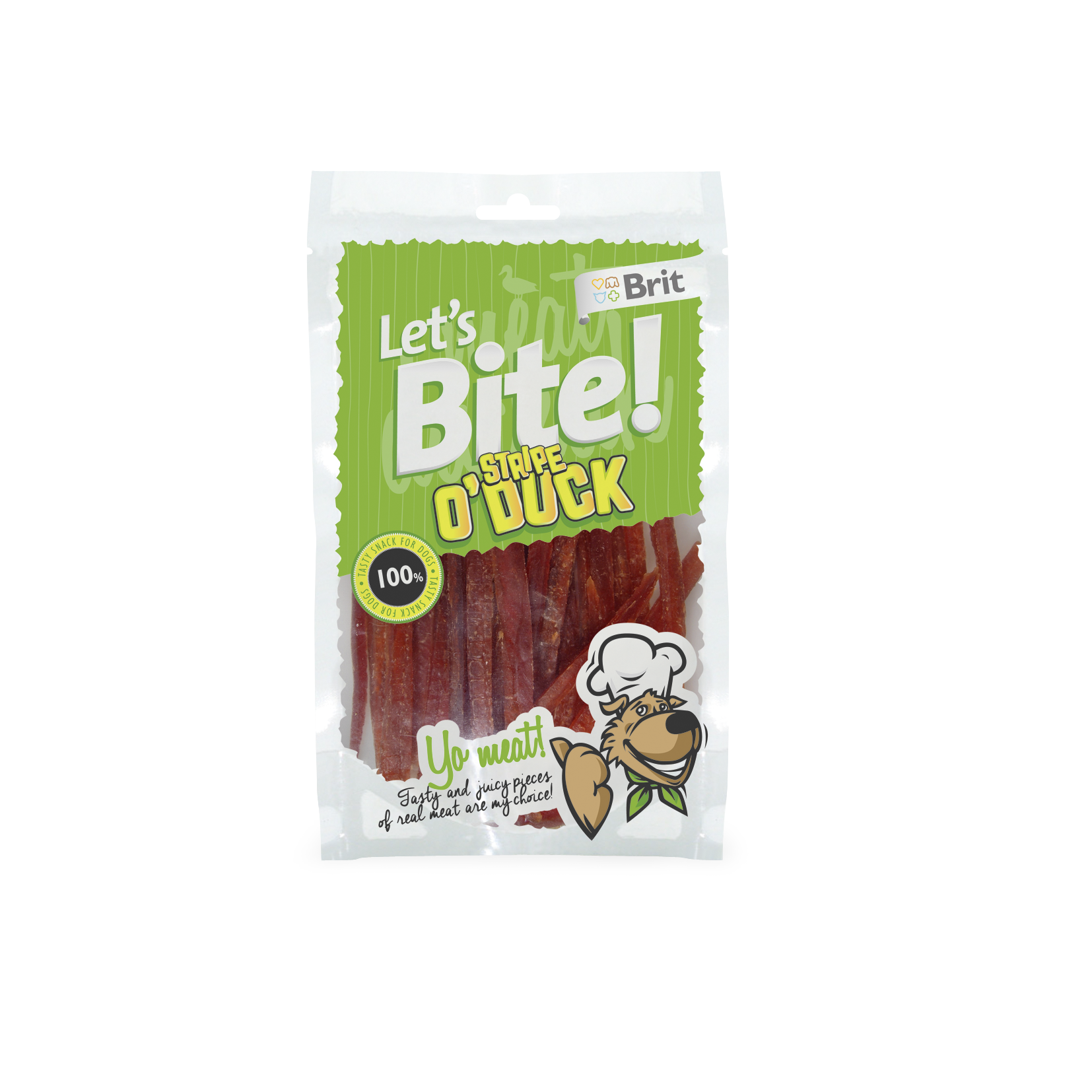 Brit Lets Bite Stripe o´Duck 80g